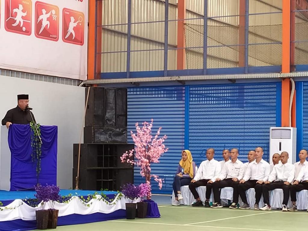 Bupati melepas Peserta pelatihan dari perusahaan PT. Indonesia Pratama & PT Bayan Group tbk yg mengikuti pelatihan di BOGOR